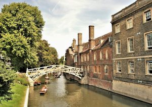 Mathematical bridge at Queens' College, Cambridge